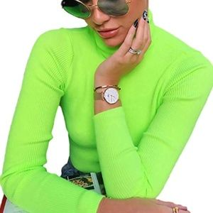 ANJA Neon Turtleneck